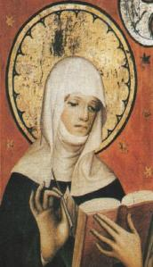 St. Bridget of Sweden did not write The Fifteen Oes, but people used to think she did.