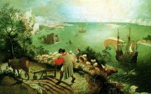 Landscape with the Fall of Icarus, Bruegel, c. 1558
