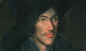 John Donne 1595-ish. I think we can all agree there's nothing sexier than a wispy mustache and a floppy hat.  Also, intelligent poetry.