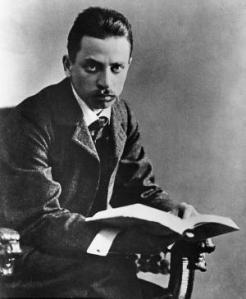 Some pictures of Rilke make him look like a pre-WWI anarchist, but he just looks like your typical tortured poet in this one.