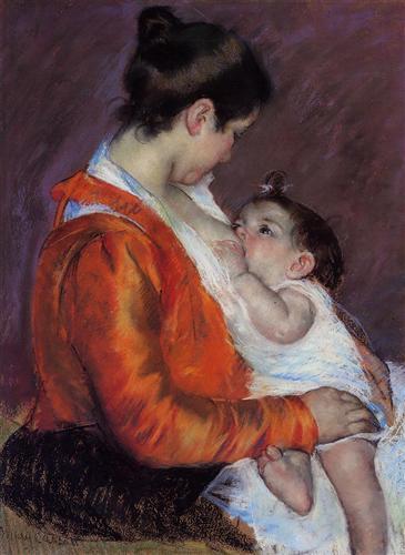"""""""Louise Nursing Her Child,"""" Mary Cassatt"""